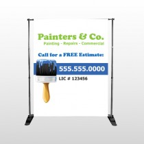 Blue Paint Brush 305 Pocket Banner Stand