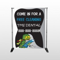 Brushing Germ 502 Pocket Banner Stand