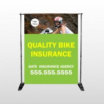 Bike Insurance 110 Pocket Banner Stand