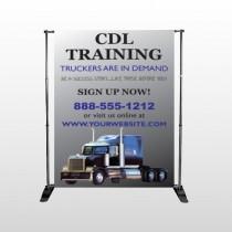 CDL Training 155 Pocket Banner Stand