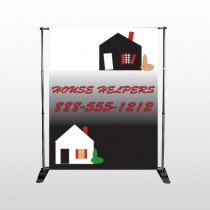 Househelper 245 Pocket Banner Stand
