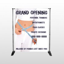 Middriff Measure 405 Pocket Banner Stand
