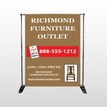 Outlet Chair 527 Pocket Banner Stand