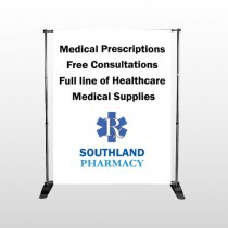 Pharmacy 335 Pocket Banner Stand