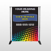 Rainbow Dots 143 Pocket Banner Stand