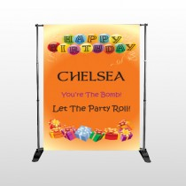 Birthday Balloons 16 Pocket Banner Stand