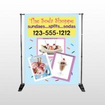 Ice Cream 374 Pocket Banner Stand