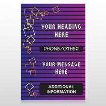 Purple Stripes 142 Custom Sign