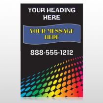 Rainbow Dots 143 Custom Sign