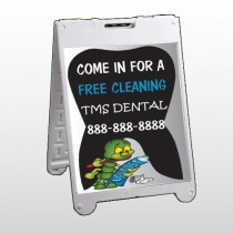 Brushing Germ 502 A Frame Sign