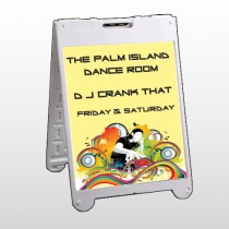 DJ Crank Night 369 A Frame Sign