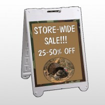 Hunt Turkey 409 A Frame Sign