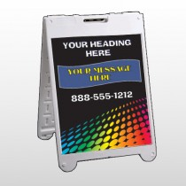 Rainbow Dots 143 A Frame Sign