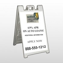 Auto Loan 173 A Frame Sign