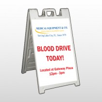 Blood Drive 330 A Frame Sign