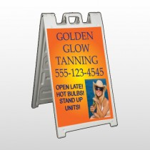 Golden Glow 491 A Frame Sign