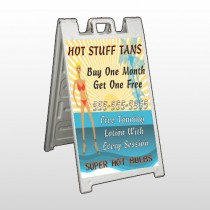 Hot Beach Tan 299 A Frame Sign