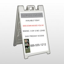 Shelving 530 A-Frame Sign