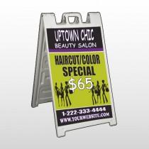 Uptown Salon 642 A Frame Sign
