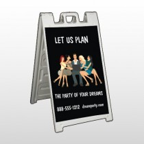 Party Planning 519 A Frame Sign