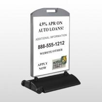 Auto Loan 155 Wind Frame Sign