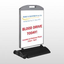 Blood Drive 330 Wind Frame Sign