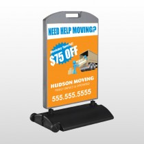 Blue Moving 294 Wind Frame Sign
