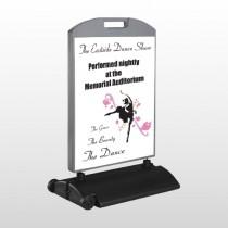 Ballet Dance 517 Wind Frame Sign