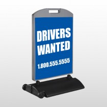 Drivers Wanted 314 Wind Frame Sign