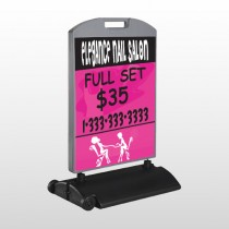 Elegant Nails 643 Wind Frame Sign