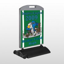 Green 50 Wind Frame Sign
