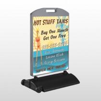 Hot Beach Tan 299 Wind Frame Sign