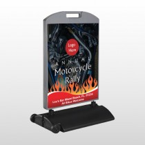 Motorcycle Flame 322 Wind Frame Sign