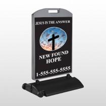New Found Hope 01 Wind Frame Sign