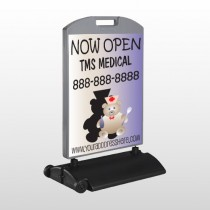 Nurse Bear 504 Wind Frame Sign