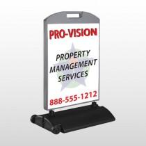 Property Management 247 Wind Frame Sign