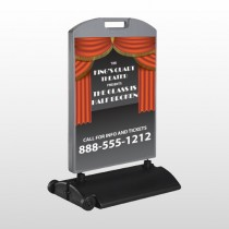 Theatre Curtains 521 Wind Frame Sign