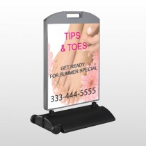 Tips & Toes 488 Wind Frame Sign