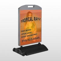 Tropical Rayz Tan 490 Wind Frame Sign