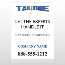 Tax Time 153 Custom Sign