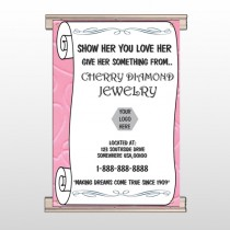 Scroll Pink Heart 397 Track Banner