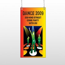 Dance Disco 518 Window Sign