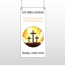 Shining Cross 161 Window Sign