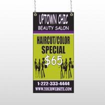Uptown Salon 642 Window Sign