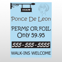 Woman Hair Sign 289 Floor Decal