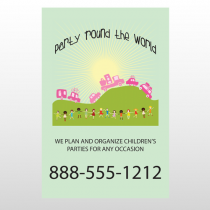 World Party Plan 520 Custom Sign