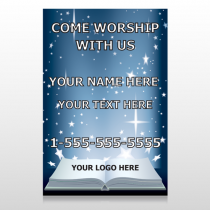 Worship With Us 02 Custom Sign