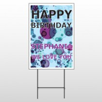 Birthday Dots 16 Wire Frame Sign