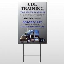 CDL Training 155 Wire Frame Sign