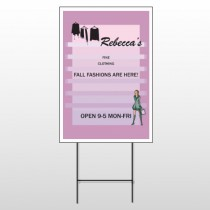 Fine Clothing 531 Wire Frame Sign